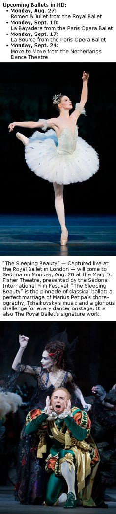 Ballet in HD in Sedona Aug. 20: Film Festival hosts 'The Sleeping Beauty'