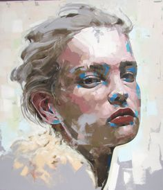 Jimmy Law is a self-taught artist and painter of expressive portraits and expressive nudes and resides in Cape Town, South Africa. L'art Du Portrait, Abstract Portrait, Portraits, Female Face Drawing, Female Art, Jimmy Law, Illustrations, Illustration Art, A Level Art Sketchbook