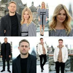 #CharlieHunnam, #SiennaMiller, and #RobertPattinson posing at a photocall for #TheLostCityOfZ in London! • • • • • #CharlieHunnam, #SiennaMiller e #RobertPattinson posando num photocall para #TheLostCityOfZ em Londres!
