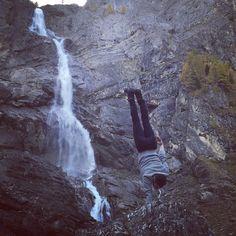 Climbing high to be vertical alongside this sublime waterfall  #circusinspiration #circuseverydamnday #circusaroundtheworld #gymnasticsfeature