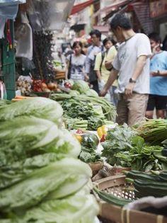 People Buying Vegetables at Graham Street Market, Central, Hong Kong Island, Hong Kong, China, Asia Photographic Print by Ian Trower at AllPosters.com