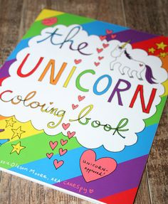 PRE-ORDER: The Unicorn Coloring Book for Grown-Ups by cakespyshop