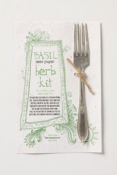 basil seed paper herb kit with garden marker at anthropologie.com by @Allison Cecil {monkeys always look} >> This is so cute!