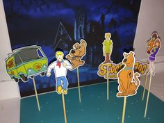 #scoobydoo cupcake topper, #party solution decoration, theme cupcake, #birthday #cupcake toppers, scooby doo inspired | Happy Party