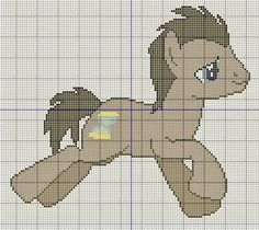 Buzy Bobbins: Doctor whooves - My little Pony Cross stitch design