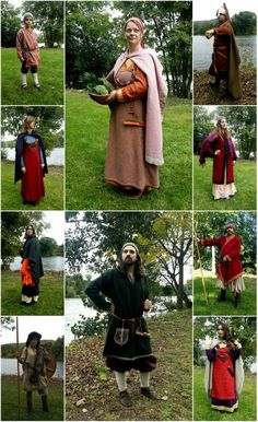 Viking reenactment by SONS OF MIDGARD. Costumes of one part of our members.