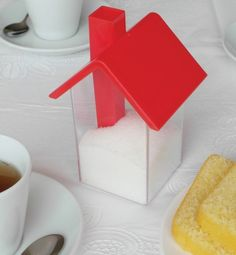 Cutest sugar dispenser every, there goes my intention to have no sugar in my tea!  Home Sweet Home Sugar Shaker