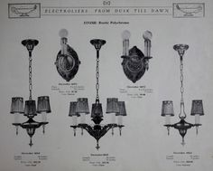 Electrolier Light Fixtures, c. 1925.  H. M. Hopper From the Association for Preservation Technology (APT) - Building Technology Heritage Library, an online archive of period architectural trade catalogs. Select an era or material era and become an architectural time traveler.