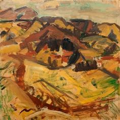 Toss Woollaston Abstract Landscape, Landscape Paintings, Landscapes, New Zealand Art, Nz Art, Tossed, Painting & Drawing, Artists, Painters