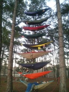 create a hammock tower