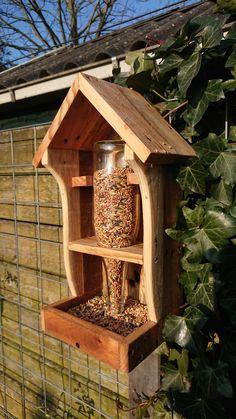Diy garden box crafts 36 super Ideas diy garden is part of Bird houses diy - Bird Feeder Plans, Bird House Feeder, Diy Bird Feeder, Squirrel Feeder, Rustic Bird Feeders, Garden Bird Feeders, Diy Garden, Garden Boxes, Garden Ideas