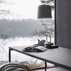 Imagine this space for an office 😍 📷stilinspiration #office #space #home #interiordesign #lake