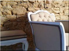 Felújított neobarokk kanapé