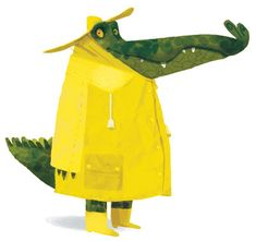 Green Aligator in A Yellow Raincoat Children's Book Illustration, Character Illustration, Character Design References, Character Art, Fru Fru, Creature Design, Art Plastique, Illustrators, Concept Art