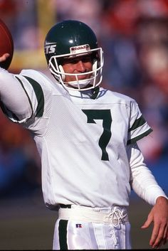 Vintage 35mm Slide NFL Ken O'Brien New York Jets QB 1990's SS58 | eBay