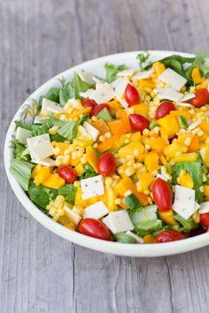 Taco Salad with Smoked Pork & Mango Smoked Pork, Me Clean, Cobb Salad, Cantaloupe, Mango, Tacos, Fruit, Life, Food
