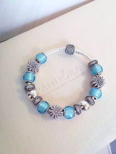 50% OFF!!! $379 Pandora Charm Bracelet Blue. Hot Sale!!! SKU: CB02067 - PANDORA Bracelet Ideas
