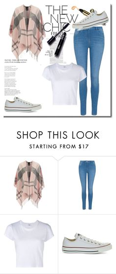 """""""It's Monday"""" by niaoffcal ❤ liked on Polyvore featuring Barbour, George, RE/DONE and Converse"""