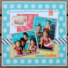 Lovely+Ladies - My Creative Scrapbook- July 2016 Creative Kit  Echo Park Paper- Summer Party Collection