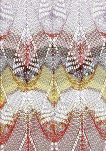 Multicolored Teardrop Free Knitting Stitch Knittingkingdom