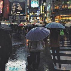 Shibuya, Tokyo  #ShotoniPhone6 #BrendanOSe #Tokyo #lovetokyo #tokyoatnight #tokyostreetphotography #rain #streetphotography #eyeinthesky #kissthefuture #mfflecce2015