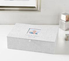 Linen Keepsake Boxes