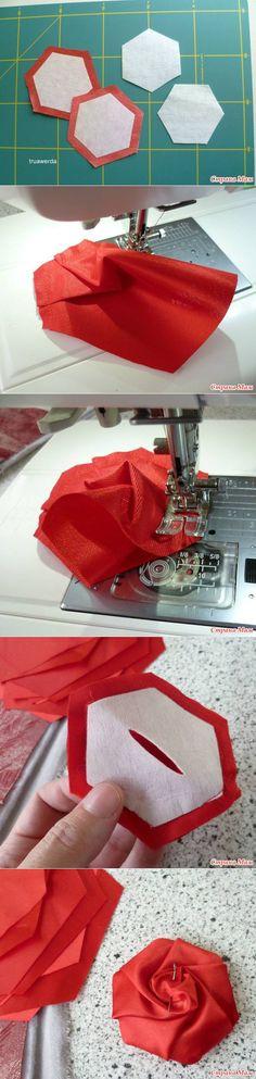 fabric rose...♥ Deniz ♥: