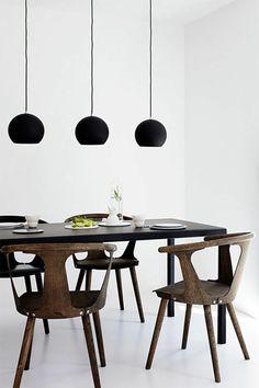 esszimmer möbel minimalistisch dunkelbraun