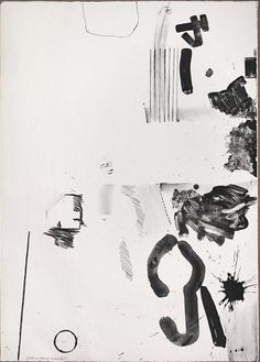 Robert Rauschenberg White Stone in Black