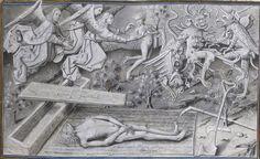 """Bibliothèque nationale de France, Français 9198, f. 51r (""""nieuczciwy chłop""""). Vie et cuda de Notre Dame zaaranżowane przez Jeana Miélot (1456)"""