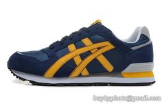 Womens And Mens Asics Sneaker Running Shoes A   Blue Yellow|only US$95.00 - follow me to pick up couopons.