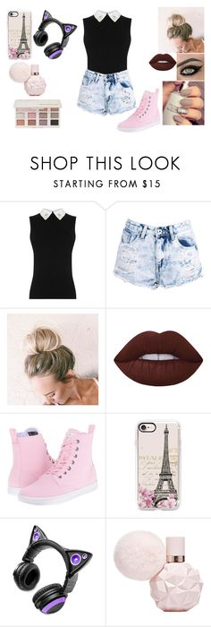 """""""Untitled #994"""" by jordanbond55 ❤ liked on Polyvore featuring Boohoo, Lime Crime, Dr. Martens, Casetify, Brookstone and Too Faced Cosmetics"""