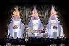 Glamorous Ballroom Wedding in Ontario Wedding Draping, Ballroom Wedding, Wedding Venues Ontario, Head Table Decor, Head Table Wedding, Table Setting Inspiration, Wedding Place Settings, Wedding Decorations, Hamilton Ontario