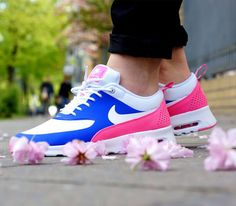 Nike Air Max Thea WMNS-Game Royal-White-Pink Glow-Wolf Grey