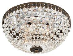 "Empire Spectra Crystal 10"" Wide Ceiling Light Fixture | LampsPlus.com"