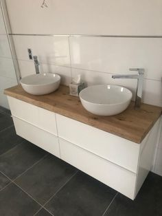 Bathroom Inspiration, Double Vanity, Decoration, Interior Decorating, New Homes, House Design, Furniture, Home Decor, Bavaria