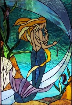 Image Search Results for leaded glass designs Faux Stained Glass, Stained Glass Designs, Stained Glass Panels, Stained Glass Projects, Stained Glass Patterns, Leaded Glass, Mosaic Glass, Mermaid Art, Mermaid Outline