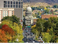Boise, Idaho - what a great little city!  A really walkable downtown - lots of restaurants, shops, bars.