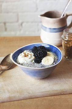 #Blackberry #Chia Frühstück #Bowl | A Better Happier Saint Sebastian