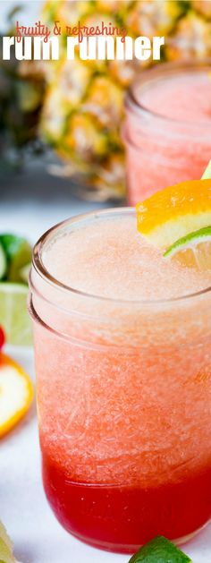 Rum Runner cocktails remind me of our trip to Key West when I was younger and all the fun we had that summer! It's an easy drink to make for entertaining too!