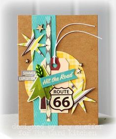 Hit the road-Card- by Amy Sheffer for the Card Kitchen Kit Club; August 2013 Card Kitchen Kit