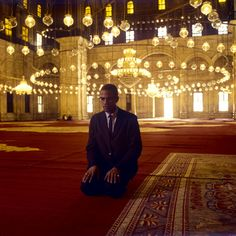 Malcolm X at Cairo mosque. Egypt. August, 1964.