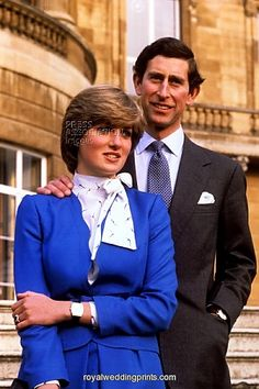 Engagement photo of HRH, Charles, The Prince of Wales, and Lady Diana Spencer. Feb1981.