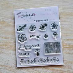 Colección de sellos acrílicos PRIMAVERA para Scrapbook de Estrellesdecolors en Etsy