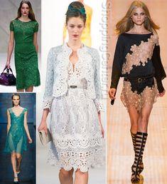 Кружевные платья - это модно!
