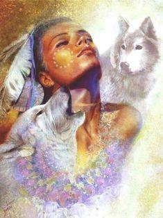 "Authentic Offset Lithograph "" Dawn's Song"" Denton Lund COA Signed Ltd Ed Native American Wisdom, American Spirit, Native American Indians, Gifs, Images Gif, Wolf Spirit, Spirit Animal, Spirited Art, She Wolf"