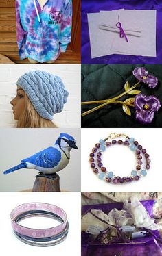 Purple and Blue Just for You!  by Marcia on Etsy--Pinned with TreasuryPin.com #promotingwomen