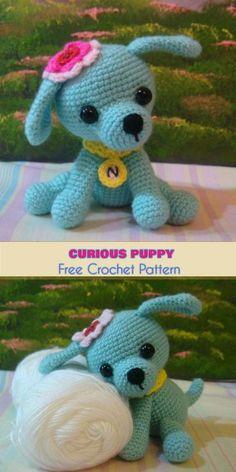 Ami Curious Puppy - Little Kino [Free Crochet Pattern] Amigurumi Toy, Softie, Lil' Dog