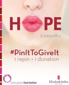#PinItToGiveIt! 1 repin = 1 lipstick donation to help women battling cancer look feel beautiful #PinItToGiveIt
