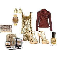 GOLD AT NIGHT, created by yvankapage on Polyvore
